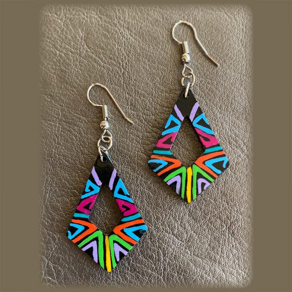 Colorful, Lightweight Retro Style Earrings Made By Indigenous Women