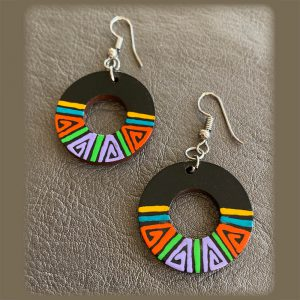 Colorful, Lightweight, Exotic Earrings Circular Style