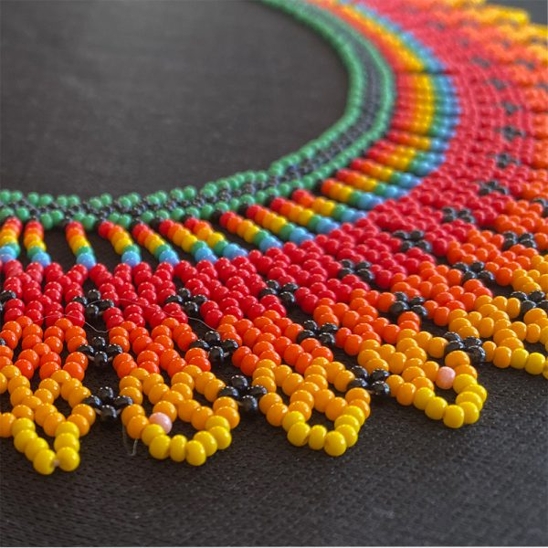 Exotic, Colorful Choker Necklace With Bright Colors alternate view