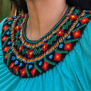 Colombian Style Beaded Necklace With Soft Colors